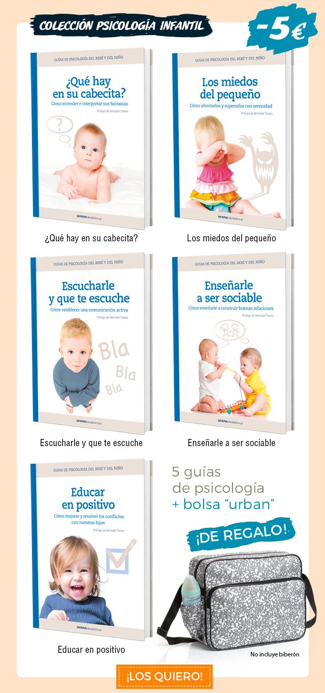 Colección psicología infantil.  5 guías de psicología, con 5€ de descuento + una bolsa de paseo de regalo