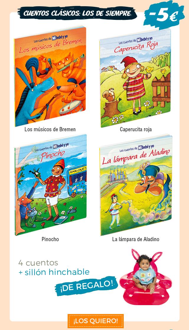 Colección de Cuentos Clásicos: los de siempre. 4 cuentos con 5€ de descuento + un sillón hinchable de regalo
